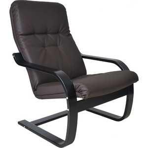 Кресло Мебель Импэкс СаймаМИ каркас венге, эко кожа, цвет Шоколад мебель салона парикмахерское кресло колор 31 цвет 2469 d белый