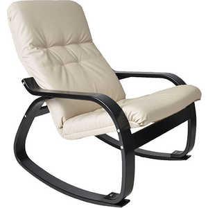 Кресло-качалка Мебель Импэкс Сайма МИ каркас венге, эко кожа, цвет Бежевая