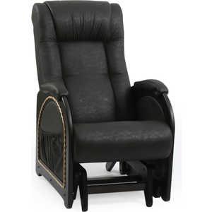Кресло-качалка Мебель Импэкс МИ Модель 48 венге каркас с лозой, обивка Dundi 109