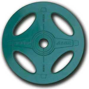 Диск олимпийский Body Solid обрезиненный 10 кг зеленый (P-RO-10K-DSA)