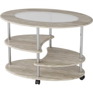 Стол журнальный Калифорния мебель Эллипс со стеклом СЖС-01 дуб стол журнальный калифорния мебель эллипс сж 01 вишня