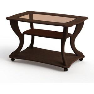 Стол журнальный Калифорния мебель Маэстро СЖС-02 со стеклом орех фото