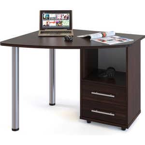 Стол компьютерный СОКОЛ КСТ-102 венге правый стол компьютерный сокол кст 102 венге дуб беленый левый