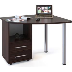 Стол компьютерный СОКОЛ КСТ-102 венге левый стол компьютерный сокол кст 102 венге дуб беленый левый