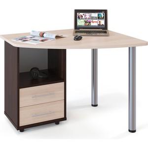 купить Стол компьютерный СОКОЛ КСТ-102 венге/дуб беленый левый дешево