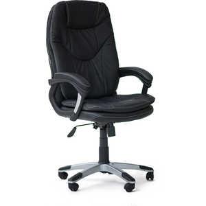Кресло офисное TetChair COMFORT 36-6 черный / кожзам цены онлайн