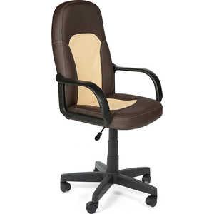 Кресло офисное TetChair PARMA 36-36/36-34 коричневый/бежевый кресло компьютерное tetchair парма parma доступные цвета обивки искусств чёрная кожа