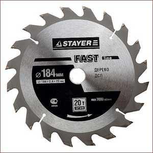 Диск пильный Stayer 250х32мм 24зуба Fast-Line (3680-250-32-24)