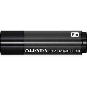 Фото - Флеш накопитель ADATA 128GB S102 PRO USB 3.0 Серый алюминий (Read 600X) (AS102P-128G-RGY) сковорода ломоносовская керамика naturepan rubin 505146 алюминий