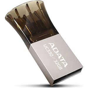 Флеш накопитель A-Data 32GB DashDrive UC330 OTG USB 2.0 MicroUSB Серебро/Черный (AUC330-32G-RBK) цена