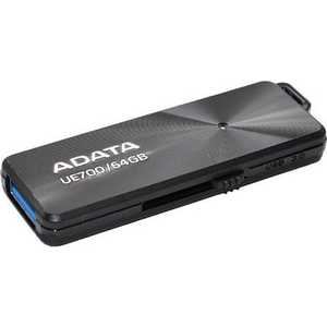 Флеш накопитель A-Data 64GBDashDrive Elite UE700 USB 3.0 Черный металлич. (AUE700-64G-CBK) usb накопитель a data auv128 64g rby auv128 64g rby