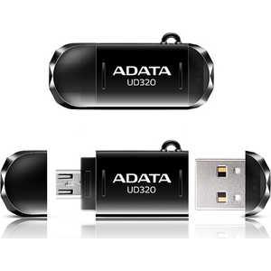 Флеш накопитель ADATA 64GBDashDrive UD320 OTG USB 2.0/MicroUSB Черный (AUD320-64G-RBK)