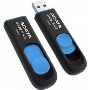 Флеш накопитель A-Data 64GBUV128 USB 3.0 черный/синий (AUV128-64G-RBE) холст 30x40 printio рукоделие