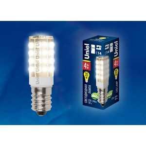 Лампа светодиодная для холодильников и швейных машин Uniel LED-Y16-4W/WW/E14/CL PLZ04WH
