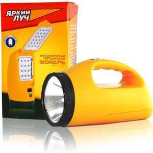 Фонарь аккумуляторный Яркий луч LA-1W раскладушка 3 режима (1W/18/30 LED) ручной фонарь яркий луч la 07 желтый [4606400104292]
