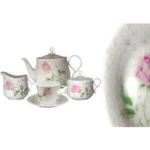 """Чайный сервиз Narumi """"Апрельская роза"""" из 17 предметов на 6 пресон (N9113-52499AL)"""