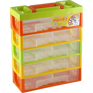 Ящики для игрушек Полимербыт Профи Kids Мультибокс 5 Секций 50001 аптечка полимербыт 6 5 л с вкладышем