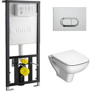 Комплект Vitra S20 унитаз с сиденьем микролифт + инсталляция + кнопка хром (9004B003-7204) vitra 9004b003 7204 s20