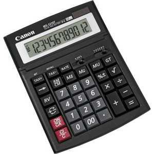 Калькулятор Canon WS-1210T калькулятор canon as 220rts 12 разряда настольный наклонный дисплей налог бизнес черный