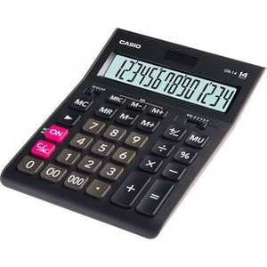 лучшая цена Калькулятор Casio GR-14 черный