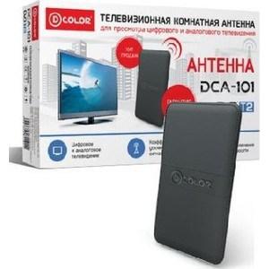 Комнатная антенна D-Color DCA-101 антенна dvb t2 kromax tv flat 02 black комн акт антенна vhf 87 5 230 мгц uhf 470 860 мгц коэф ус 30db питание от приемника