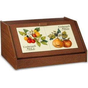 Хлебница Nuova Cer Итальянские фрукты (NC6837-CEM-AL) подставка для бумажного полотенца nuova cer итальянские фрукты