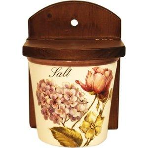 Настенная банка для сыпучих продуктов (соль) LCS Сады Флоренции (LCS871L-BO-AL)