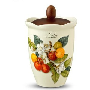 Банка для сыпучих продуктов (соль) Nuova Cer Итальянские фрукты (NC7370_1-CEM-AL) подставка для бумажного полотенца nuova cer итальянские фрукты