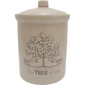 Банка для сыпучих продуктов (маленькая) Terracotta Дерево жизни (TLY301-4-TL-AL)