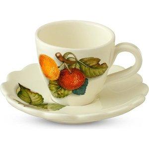Чашка с блюдцем Nuova Cer Итальянские фрукты (NC7417-CEM-AL) подставка для бумажного полотенца nuova cer итальянские фрукты