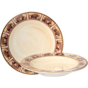 Набор из 2 тарелок суповая и обеденная LCS Натюрморт (LCS353V-AL)