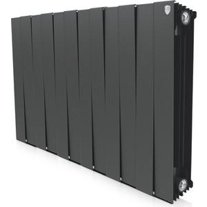 Радиатор отопления ROYAL Thermo биметаллический Piano Forte 500 Noir Sable 12 секций радиатор royal thermo pianoforte tower noir sable 18 секций rtpftns50018