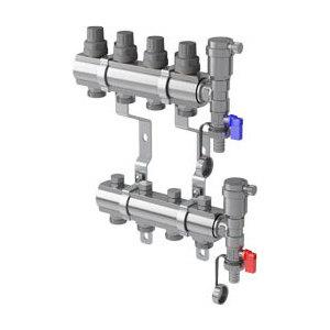 Коллекторная группа ROYAL Thermo в сборе универсальная 1 ВР-3/4 НР 12 выходов нержавеющая сталь (RTE 51.112) коллекторная группа royal thermo в сборе с расходомерами 1 вр 3 4 нр 4 выхода нержавеющая сталь rte 52 104