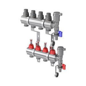 Коллекторная группа ROYAL Thermo в сборе с расходомерами 1 ВР-3/4 НР 12 выходов нержавеющая сталь (RTE 52.112) коллекторная группа royal thermo в сборе универсальная 1 вр 3 4 нр 2 выхода нержавеющая сталь rte 51 102