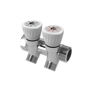Коллектор ROYAL Thermo с регулировочными вентилями 3/4x1/2 3 выхода (RTO 62003)