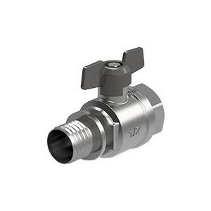 Кран ROYAL Thermo шаровый AXIO press с аксиальным соединением 20x3/4 ВР (RTE 20.135)