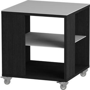 Журнальный стол MetalDesign Смарт MD 732.01.11 корпус-черный/ стекло-белый metaldesign смарт md 746 02 10 корпус венге стекло крем