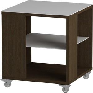 Журнальный стол MetalDesign Смарт MD 732.02.11 корпус-венге/ стекло-белый metaldesign смарт md 746 02 10 корпус венге стекло крем