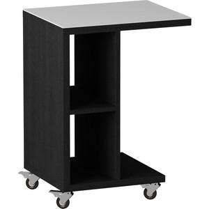 Журнальный стол MetalDesign Смарт MD 741.01.11 корпус-черный/ стекло-белый metaldesign смарт md 746 02 10 корпус венге стекло крем