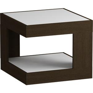 Журнальный стол MetalDesign Смарт MD 746.02.11 корпус-венге/ стекло-белый metaldesign смарт md 746 02 10 корпус венге стекло крем