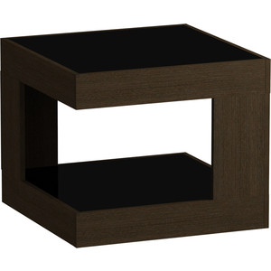Журнальный стол MetalDesign Смарт MD 746.02.01 корпус-венге/ стекло-черный metaldesign смарт md 746 02 10 корпус венге стекло крем