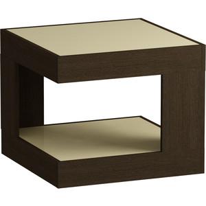 Журнальный стол MetalDesign Смарт MD 746.02.10 корпус-венге/ стекло-крем metaldesign смарт md 746 02 10 корпус венге стекло крем