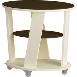 Журнальный стол MetalDesign Смарт MD 736.03.02 корпус-молочный дуб/ стекло-венге metaldesign смарт md 746 02 10 корпус венге стекло крем