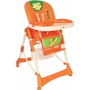 Стульчик Geoby оранжевый с зеленой вставкой (HC21 Orange) стульчик для кормления y280 geoby
