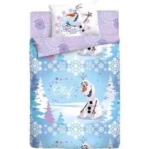 Детское полутороспальное постельное белье Disney Холодное Сердце Олаф Зима с наволочкой 50х70 (186495)