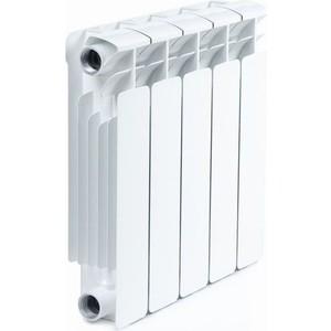 Радиатор отопления RIFAR BASE 350 5 секций биметаллический боковое подключение (RB35005) радиатор отопления rifar base 350 8 секций биметаллический боковое подключение rb35008