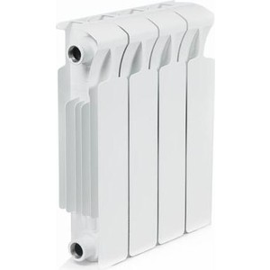 Радиатор отопления RIFAR MONOLIT 350 4 секции биметаллический боковое подключение (RM35004) биметаллический радиатор rifar monolit ventil mvl 350 06