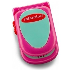 Развивающая игрушка Infantino розовый телефон (506-504) развивающая игрушка infantino розовый телефон 506 504