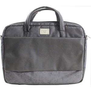 Сумка для ноутбука Continent CC-037 Grey (полиэстр/экокожа до 15.6) сумка для ноутбука continent cc 037 до 15 6 16 полиэстр эко кожа black 38 x 28 5 x 4 2 см
