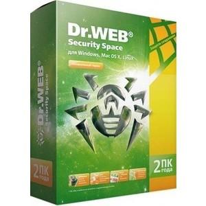 Программный продукт Dr.Web Security Space ПК BHW-B-24M-2-A3 Регистрационный ключ 2 на года